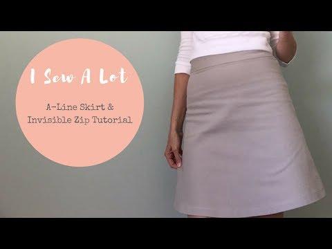 1 hr Challenge - New Look 6035 Skirt & Zip Tutorial - Vlog #27