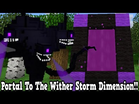 Minecraft How To Make A Portal To The Wither Storm Dimension - Wither Storm Dimension Showcase!!!