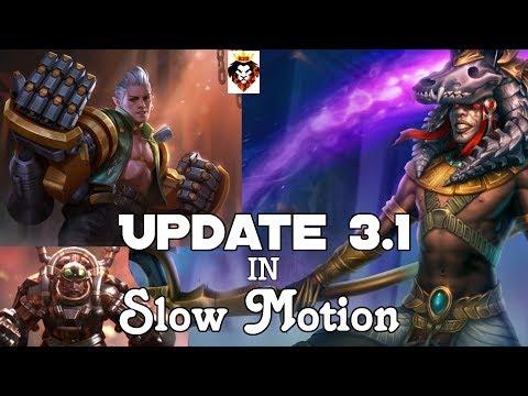 UPDATE 3.1 SLOW-MOTION Of Tony/Steam Knight Tony[R]/Anubis Baptiste[E]-VainGlory 5V5!!