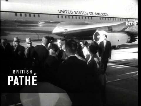 President Kennedy Arrives In Caracas   (1962)