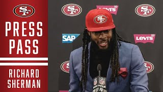 Richard Sherman Recaps Big Interception vs. Vikings | 49ers
