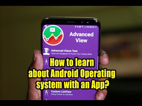 How to learn about Android Operating system with an App?