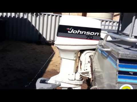 1986 johnson 70 hp stall problem - YouTube