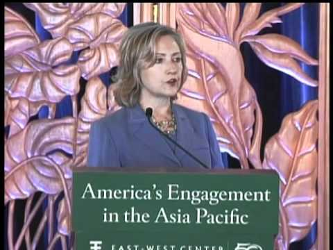 Secretary Clinton Delivers Remarks on American Leadership in the East Asia-Pacific Region