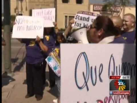 San Fernando Valley Child Care Providers Protest State Budget 2012