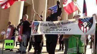 USA: Swastikas on show at Texas KKK and NSM rally