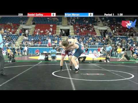 Fargo 2012 220 Round 1: Daniel Gaffey (Iowa) vs. Brian Moran (Michigan)