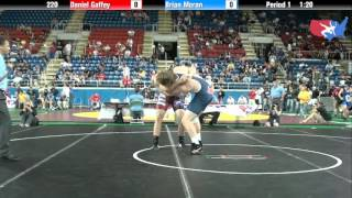 Fargo 2012 220 Round 1: Daniel Gaffey (Iowa) vs. Brian Moran (Michigan)