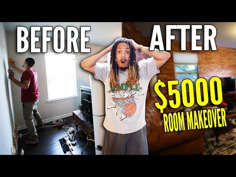$4000 DIY SNEAKER ROOM PROJECT !!! BEFORE AND AFTER OF MY NEW STUDIO !!!