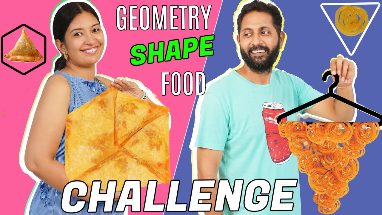 Geometry Shape Food Challenge - PATI vs PATNI | CookWithNisha