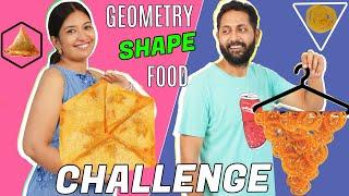 Geometry Shape Food Challenge - PATI vs PATNI  CookWithNisha