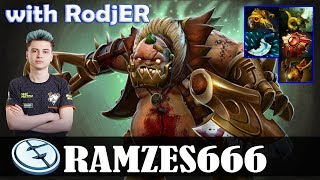 Ramzes - Pudge Safelane | with RodjER (Chen) | Dota 2 Pro MMR Gameplay