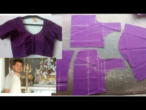 sada (plain) blouse cutting and stitching in Hindi / belt blouse  /step by step tutorial