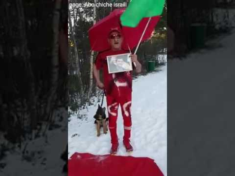 Abo chiche Türkiye küfür ediyor ve Türk bayrağını ayaklarıyla basıyor ابو جيجو يغلط على تركيا