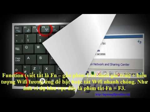 Hướng Dẫn Bật Tắt Wifi Trên Laptop