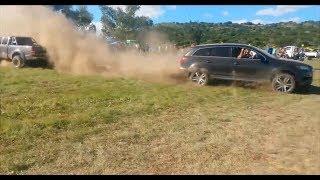 Audi Power - Audi Q7 vs Toyota Hilux - Tug of War 💪