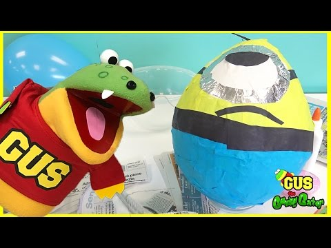 Thumbnail: HUGE EGG SURPRISE Minion Despicable Me DIY Easter Egg Surprise Toys Kids Video