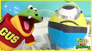 HUGE EGG SURPRISE Minion Despicable Me DIY Easter Egg Surprise Toys Kids Video thumbnail