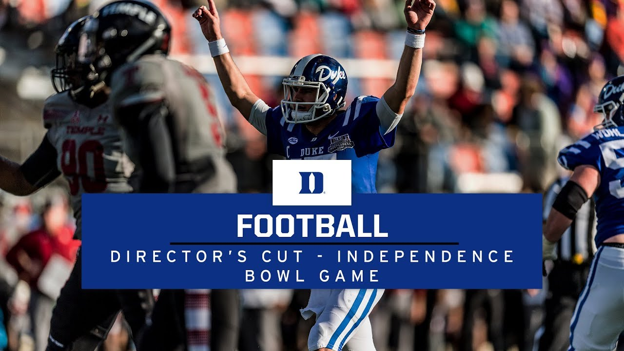 Duke Football Director s Cut  Independence Bowl Game vs Temple - YouTube 516913033