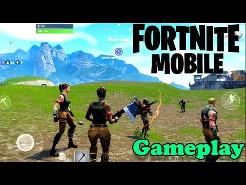 FORTNITE MOBILE - IOS / ANDROID GAMEPLAY ( OFFICIAL GAME )