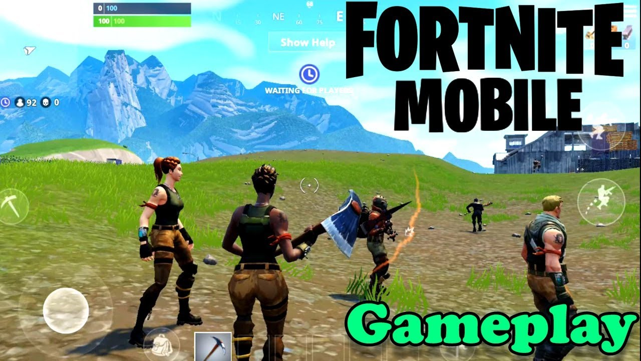 fortnite mobile ios android gameplay official game - fortnite gameplay android