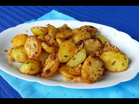 EASY ROAST POTATO How To Make Roasted Potatoes With Crispy Onion Recipe Video