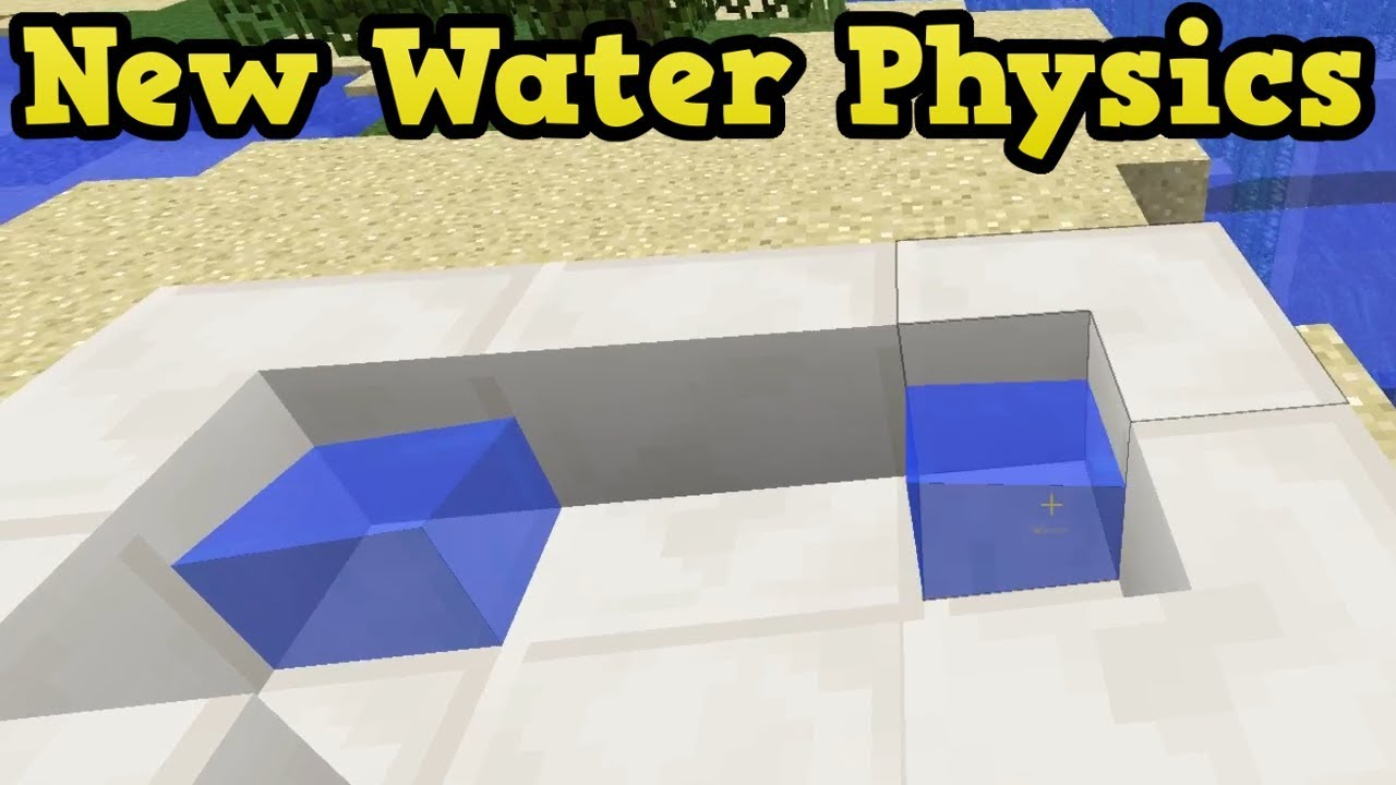 Minecraft 1 13 Water Quarter Slabs New Water Physics Youtube