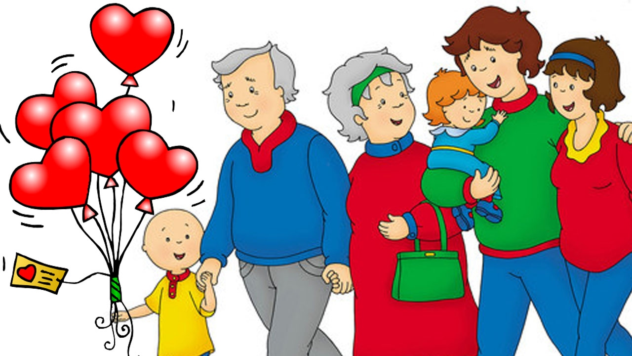Caillou Funny Valentines Cartoons Cartoon Caillou Happy