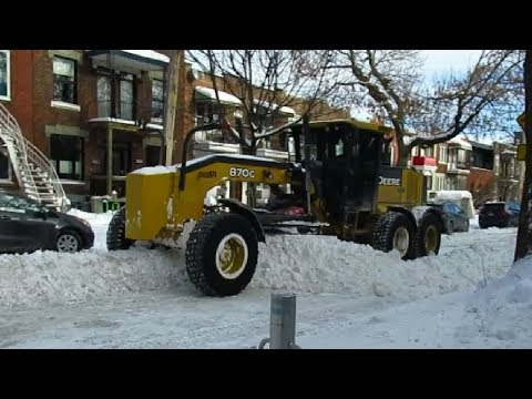 NICE SNOW REMOVAL JOB IN MONTREAL'S VILLERAY DISTRICT 1-21-20