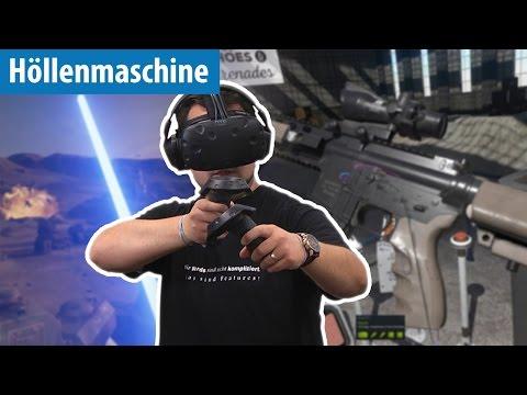 Ballern, Klettern & Lichtschwerter in VR - Höllenmaschine UVR | deutsch / german