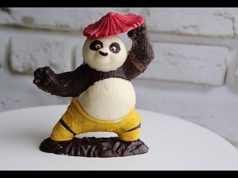 ШОКОЛАДНЫЙ Панда Кунг-фу! Как работать с пластиковой формой для шоколада