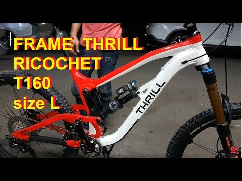 Selesai Merakit Frame Thrill Ricochet T140 Fork Fox Shimano XT Wheelset Crankbrothers