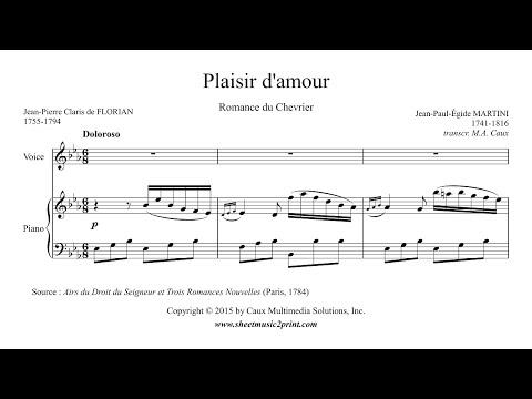 Martini : Plaisir d'amour - Voice (3/6 : Medium-High, E flat Major)