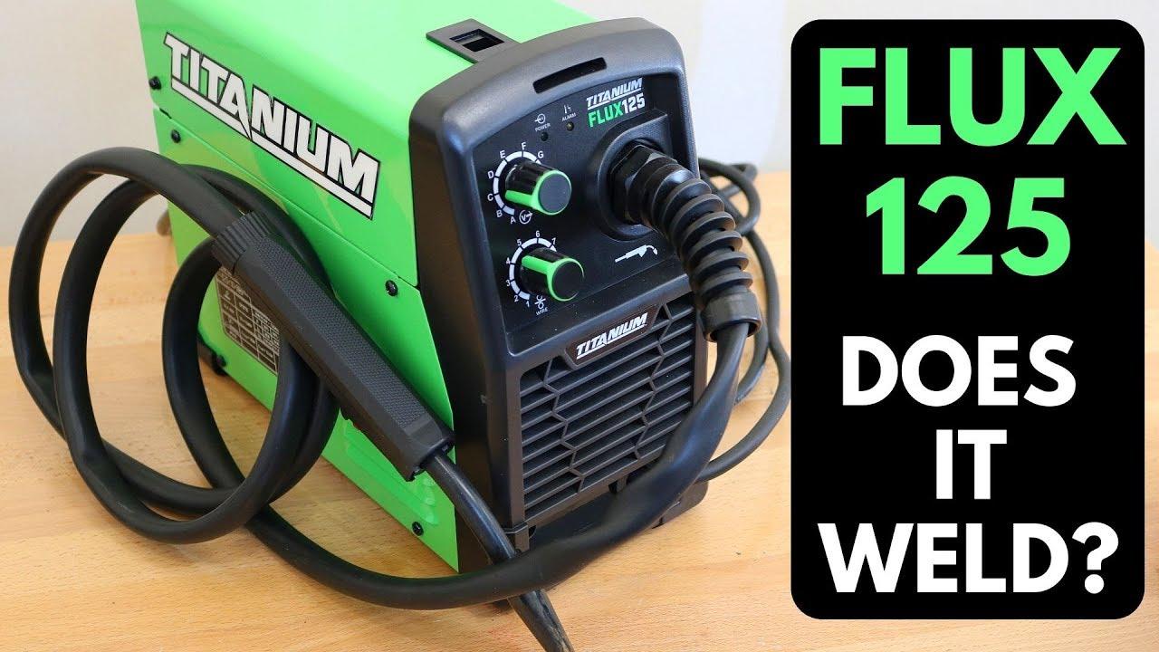 Flux 125 Welder Lightweight Professional Welding Machine Garage Auto Shop New