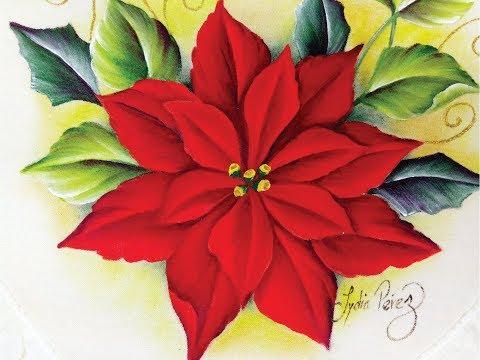 Pintura en tela navidad como pintar una nochebuena youtube - Pintura en tela motivos navidenos ...