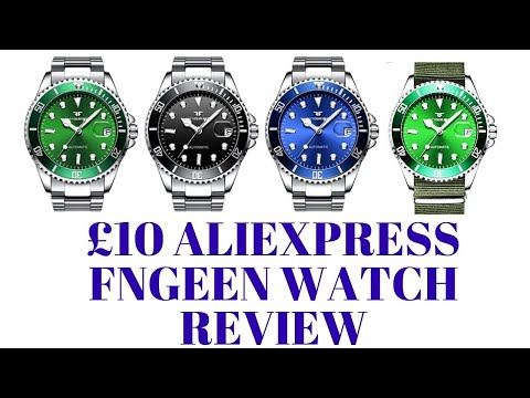 Aliexpress £10 Fngeen Sub Homage Watch Review. The Worst Watch I Kinda Like.