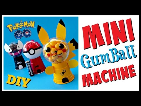 DIY POKEMON GO MINI GUMBALL MACHINES - Party Favors - Geeky Girl DIY's
