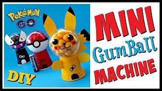 DIY POKEMON GO MINI GUMBALL MACHINES - Party Favors - Geeky Girl DIY's
