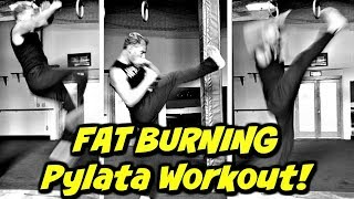 FAT DESTROYER PYLATA Workout w/ Extra KICKS! Intense Bodyweight Only Fitness Routine