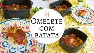 OMELETE COM BATATAS NA FRITADEIRA ELÉTRICA (AIRFRYER)