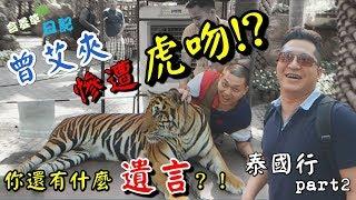 泰國行P2 曾艾夾有什麼遺言趕快說!!被老虎咬會重傷的!!【含羞草日記】#74