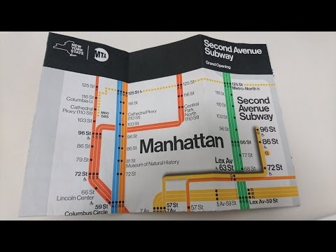 Second Ave Subway Grand Opening - Day 1 going from East 96 St & 2nd to 57th & 7th . Jan 1, 2017