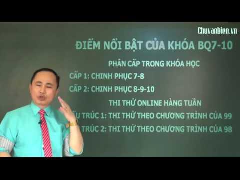 """Nội dung khóa """"BQ 7-10 ôn luyện thi THPT QG môn Vật lí 2017"""""""