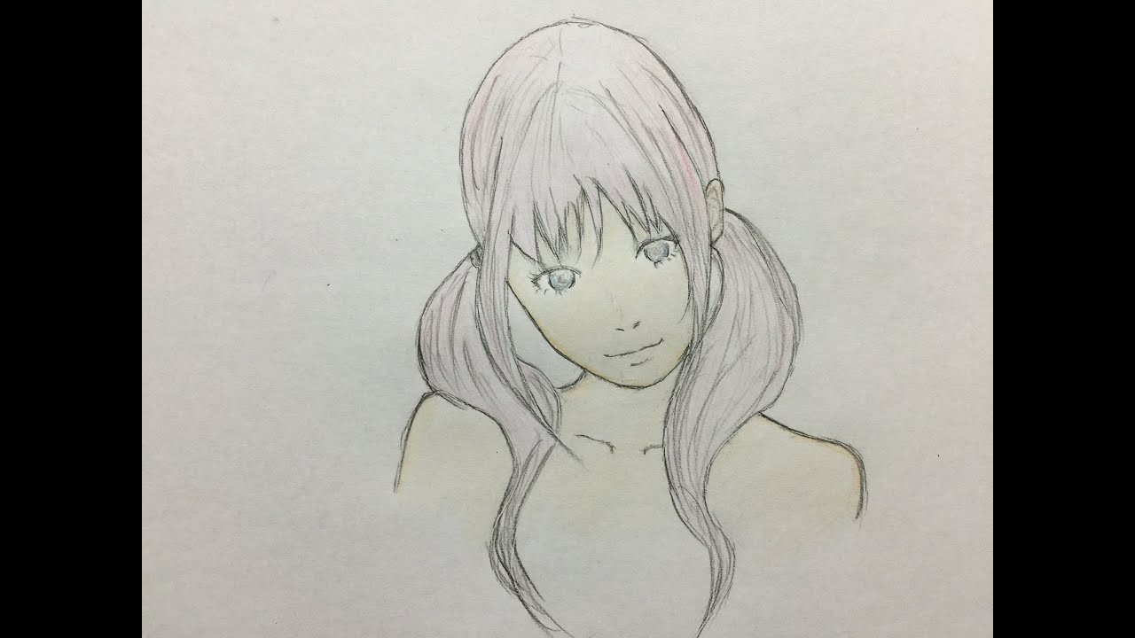 How To Draw Cute Girl Japanese Manga Colored Pencil Part5