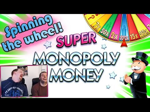 SPINNING THE SUPER MONOPOLY MONEY WHEEL!