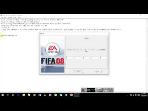 How To Install Fifa 08 | 100% Working Method 2017  With Serial Key