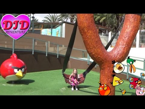 Angry Birds Activity Park Gran Canaria DJD  kids imagination Eggs Saving Adventure