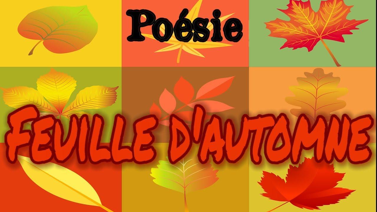 Poésie Feuille Dautomne De Charlotte Serre Youtube