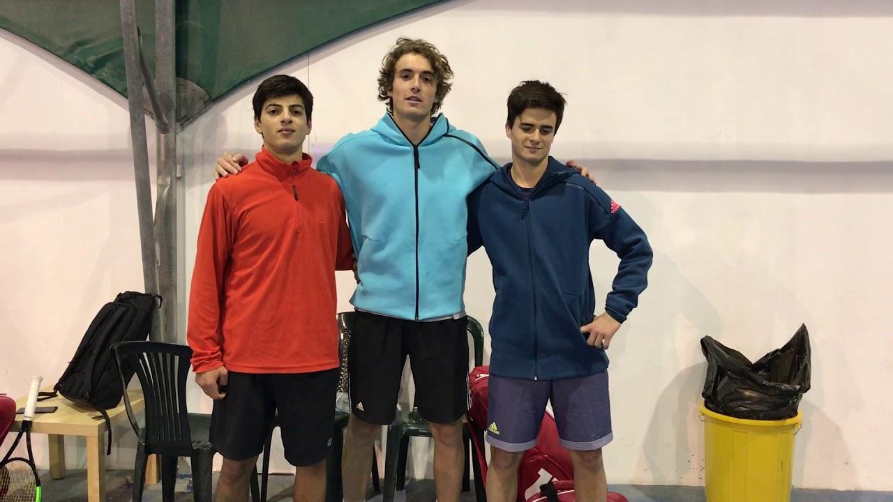 Evan Fragistas With Stefanos And Petros Tsitsipas 2018 Season Practice Youtube
