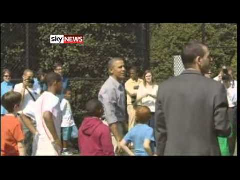 Barack Obama's Off Day On Basketball Court